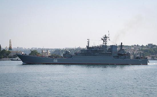 Российская эскадра у берегов Латвии