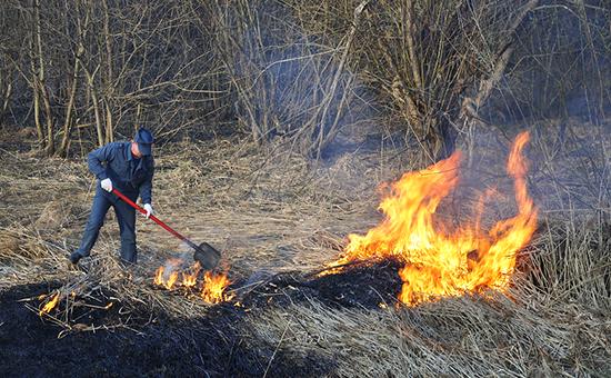 В Шатурском районе Подмосковье загорелся торф.Готовтесь...