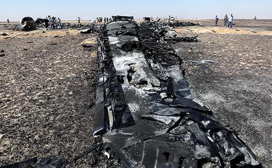 Обломки лайнера А321 «Когалымавиа» Фото: REUTERS 2015
