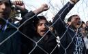 Пакистанские мигранты на греко-македонской границе